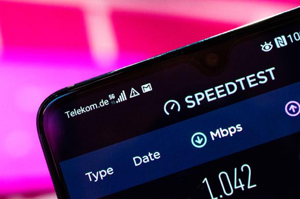 5G am Handy im Telekomnetz mit 1 GBit