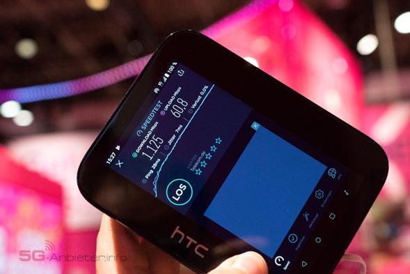 5G Hub von HTC im Speedtest im Telekomnetz