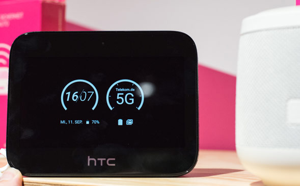 Frontmenü des HTC 5G Hub
