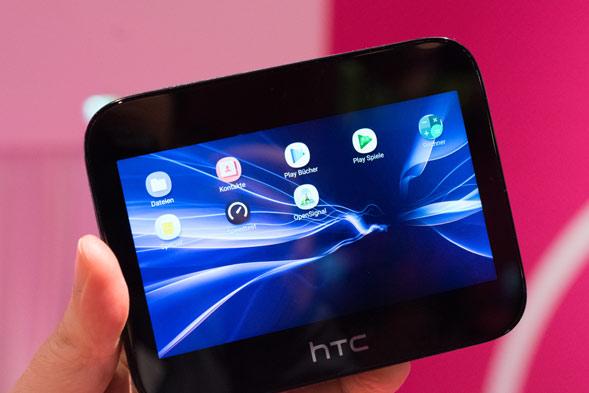 Startbildschirm des HTC 5G Hub