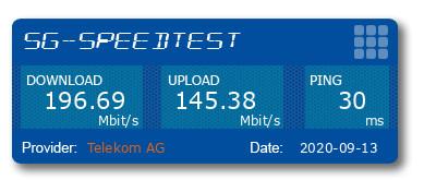 5G Speedtest mit CPE Pro Router in Leipzig