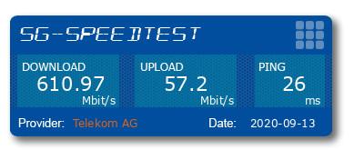 Speedtest mit 5G in Leipzig am Smartphone